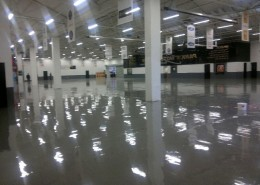 Epoxy Resin Floor Painted, Car Showroom