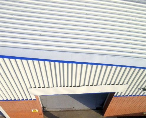 Roofing Cladding Spray Painted