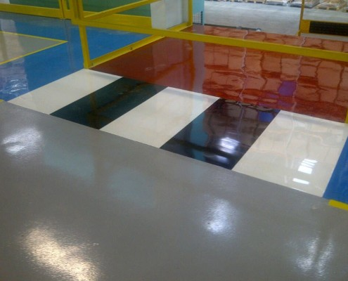 Factory Floor, Industrial Painting Contractor